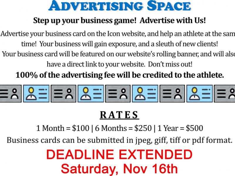 Ad Space extended to Nov 16th